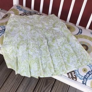 J. Crew Paisley Pleated Lined Skirt NWOT Size 4